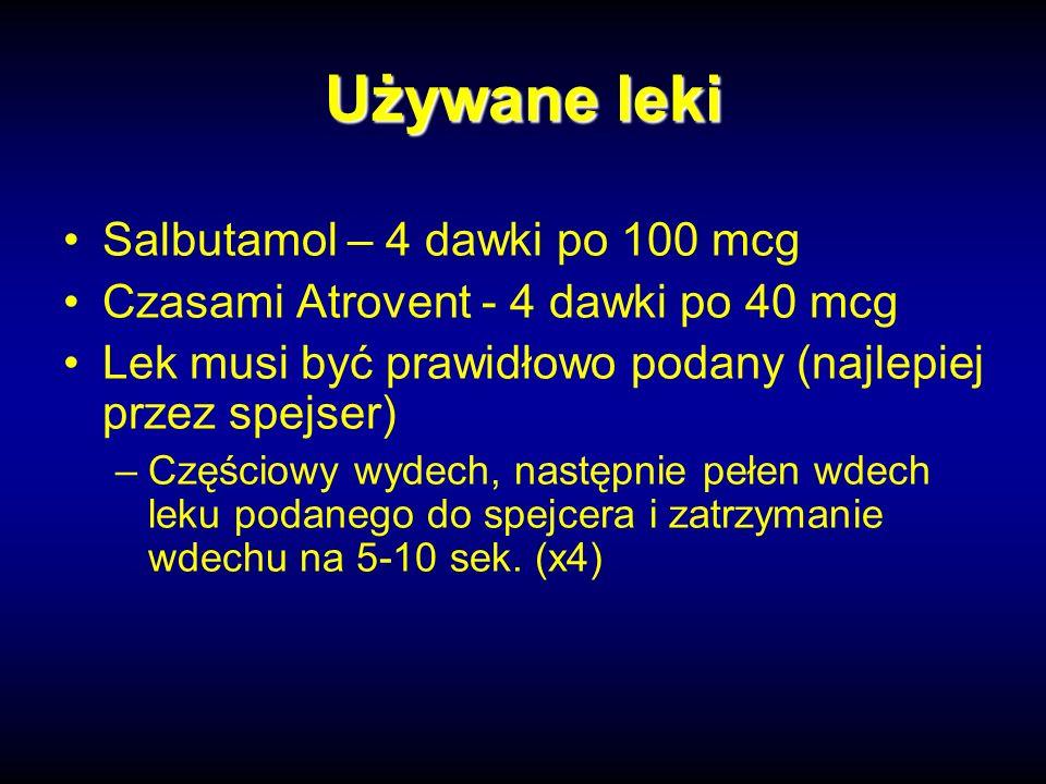 Używane leki Salbutamol – 4 dawki po 100 mcg