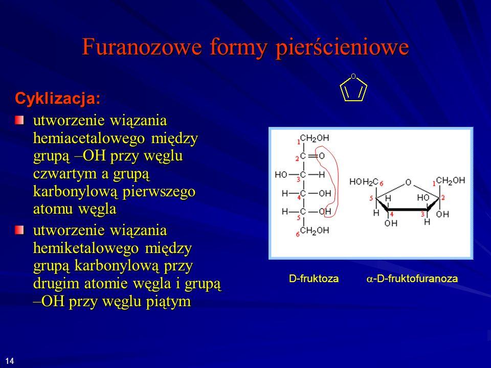 Furanozowe formy pierścieniowe