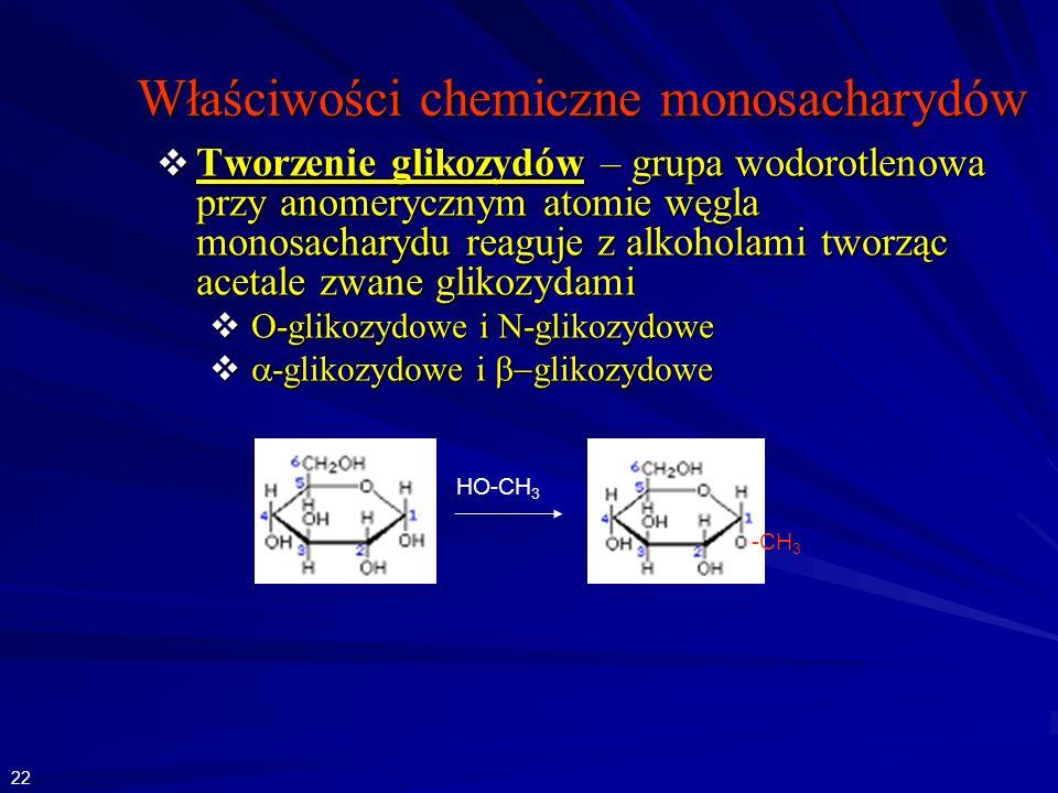 Właściwości chemiczne monosacharydów