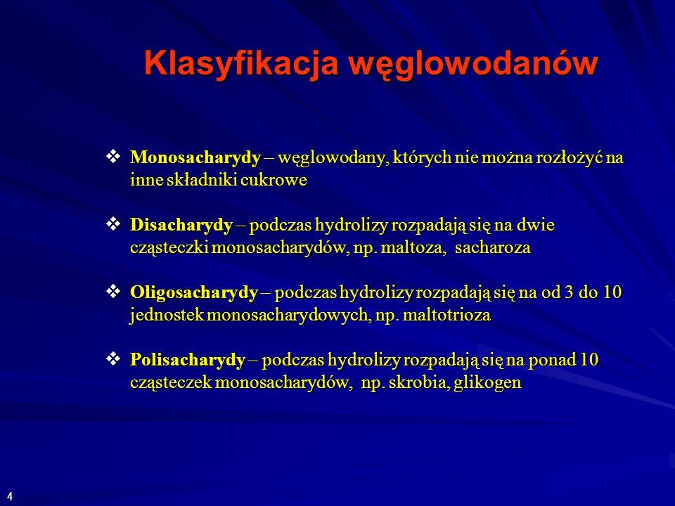 Klasyfikacja węglowodanów