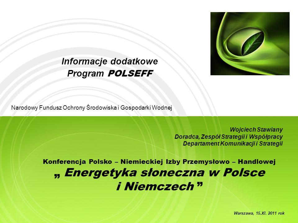 Informacje dodatkowe Program POLSEFF