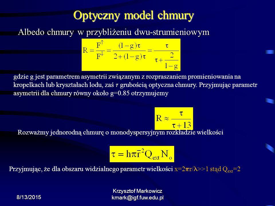 Krzysztof Markowicz kmark@igf.fuw.edu.pl