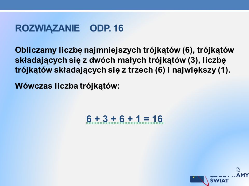 Rozwiązanie odp. 16