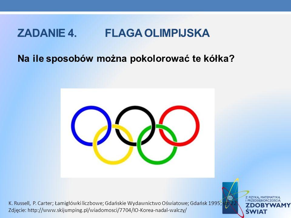 Zadanie 4. flaga olimpijska