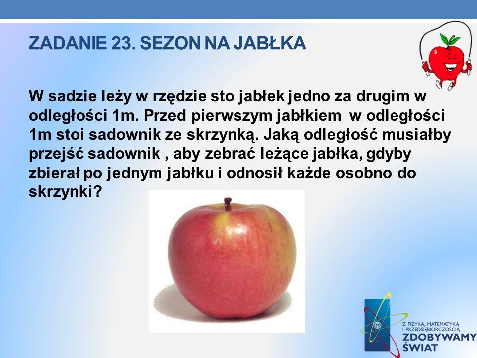 Zadanie 23. Sezon na jabłka