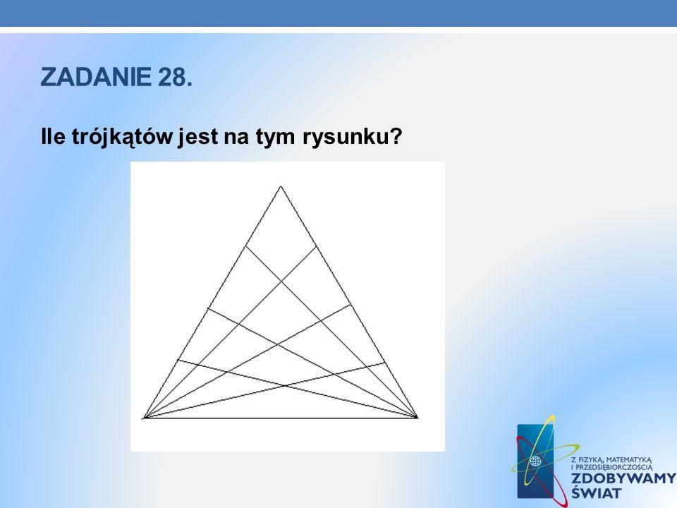Zadanie 28. Ile trójkątów jest na tym rysunku