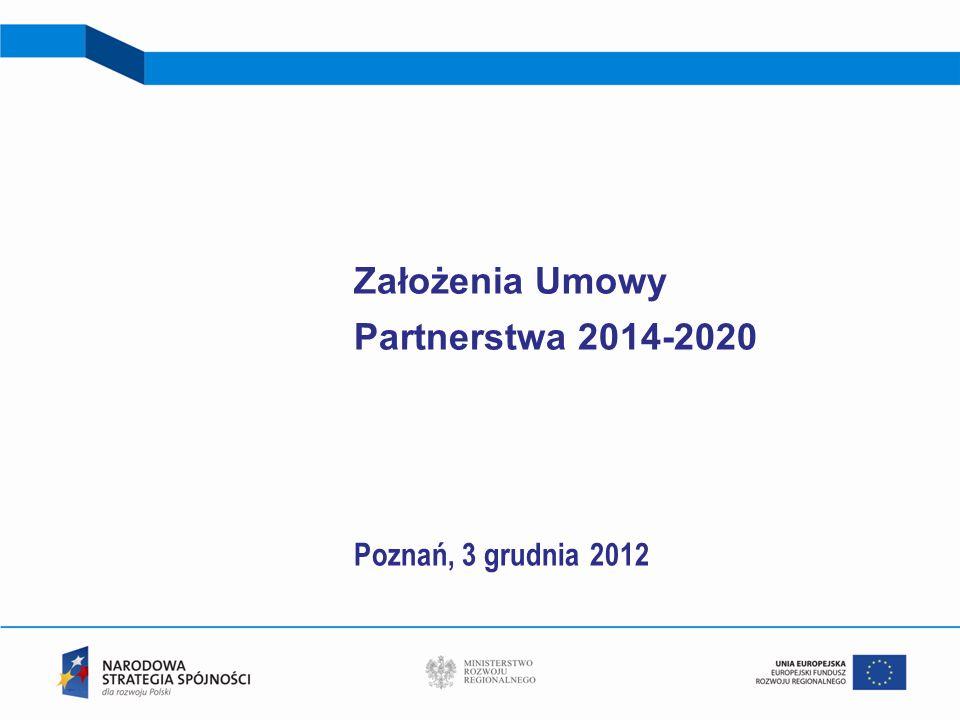 Założenia Umowy Partnerstwa 2014-2020