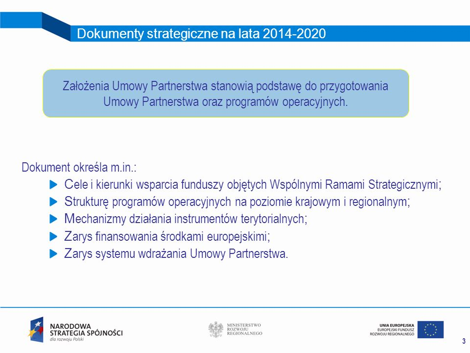 Dokumenty strategiczne na lata 2014-2020