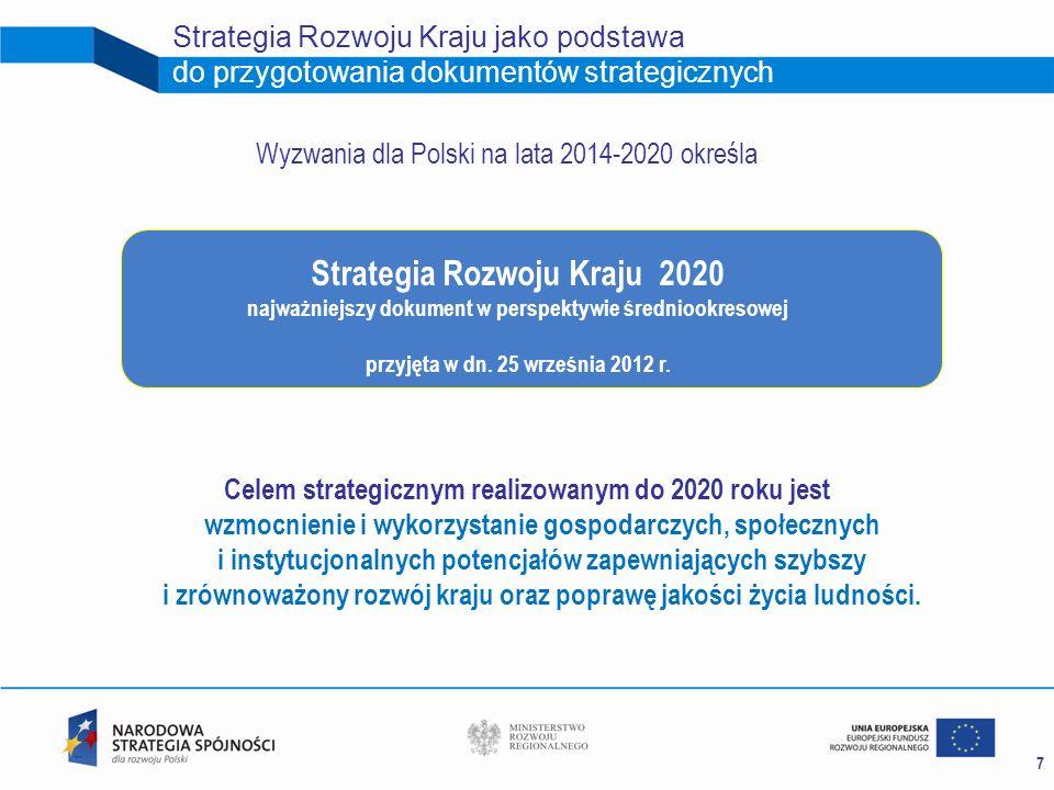 Strategia Rozwoju Kraju jako podstawa do przygotowania dokumentów strategicznych