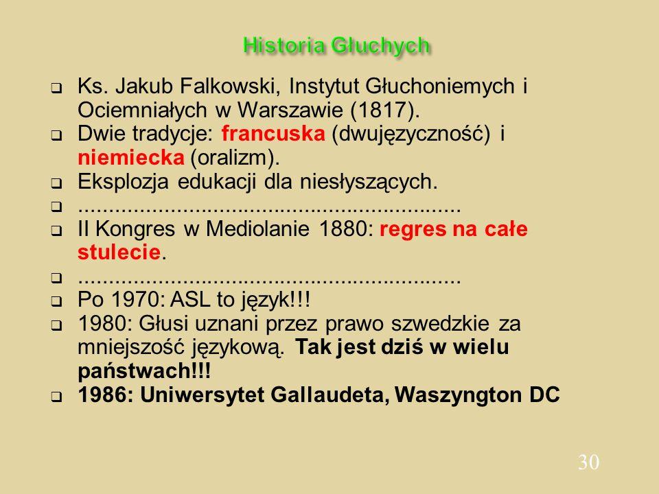 Historia GłuchychKs. Jakub Falkowski, Instytut Głuchoniemych i Ociemniałych w Warszawie (1817).
