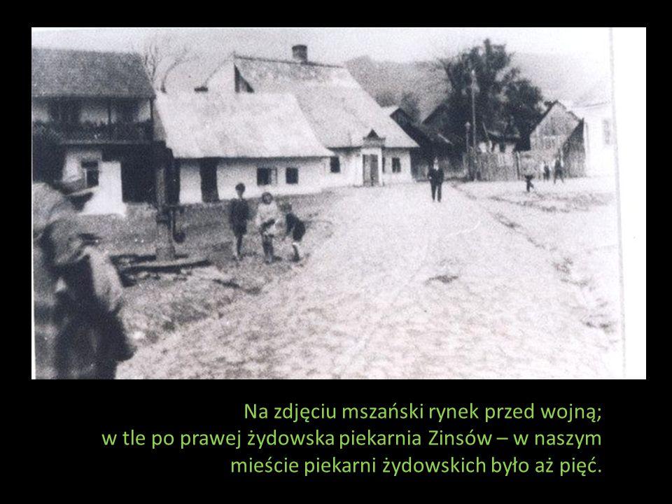 Na zdjęciu mszański rynek przed wojną;