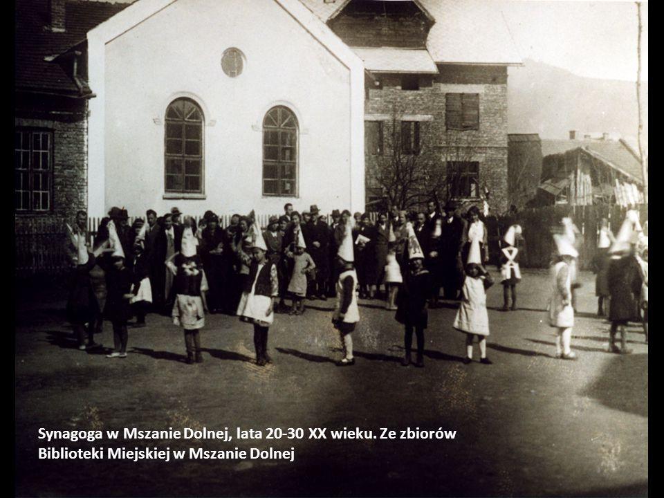 Synagoga w Mszanie Dolnej, lata 20-30 XX wieku