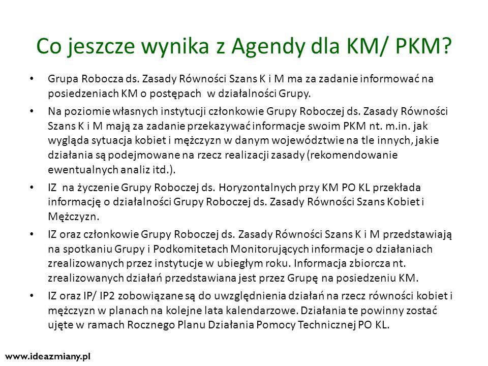 Co jeszcze wynika z Agendy dla KM/ PKM
