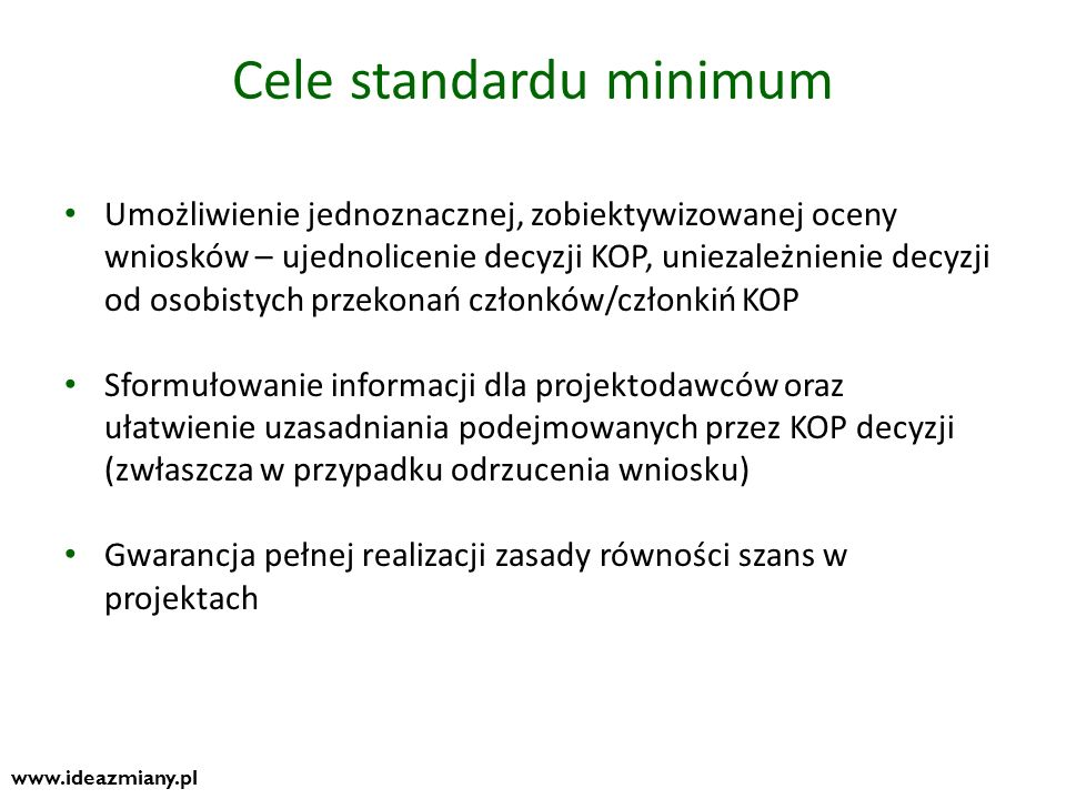 Cele standardu minimum