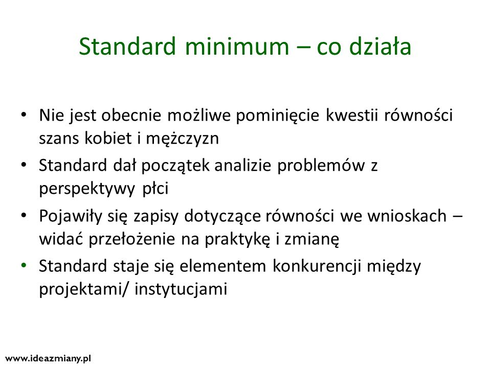 Standard minimum – co działa