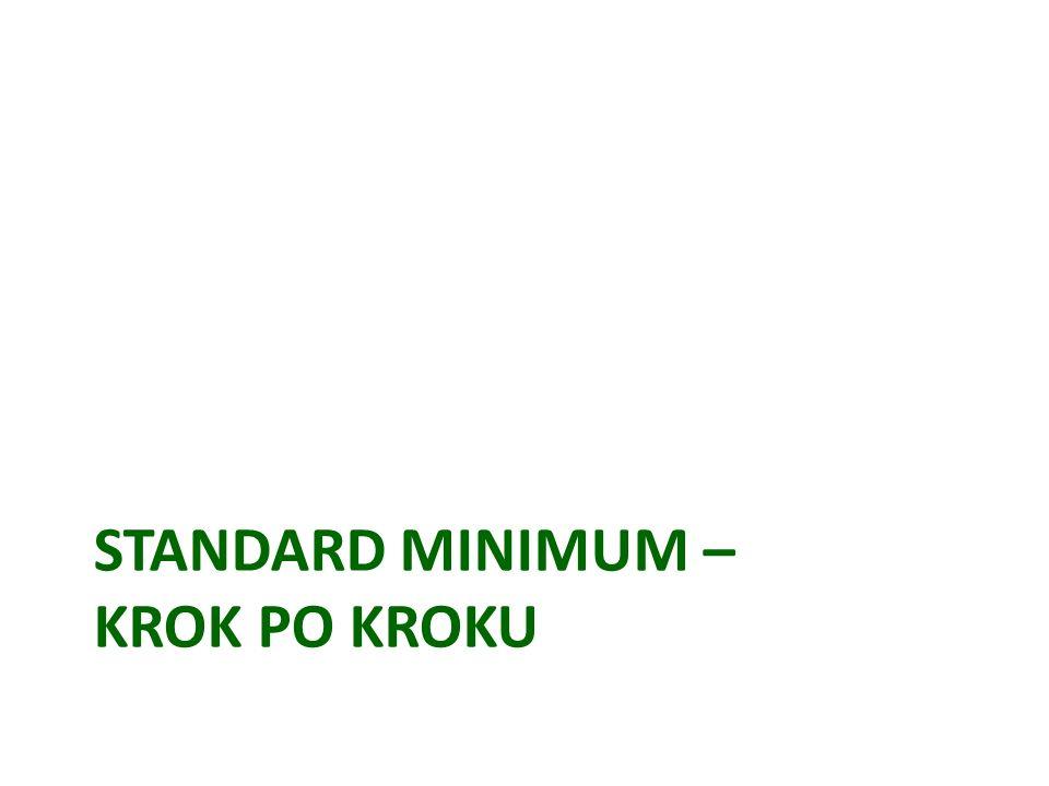 Standard minimum – krok po kroku