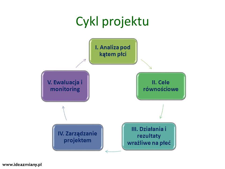 Cykl projektu www.ideazmiany.pl I. Analiza pod kątem płci