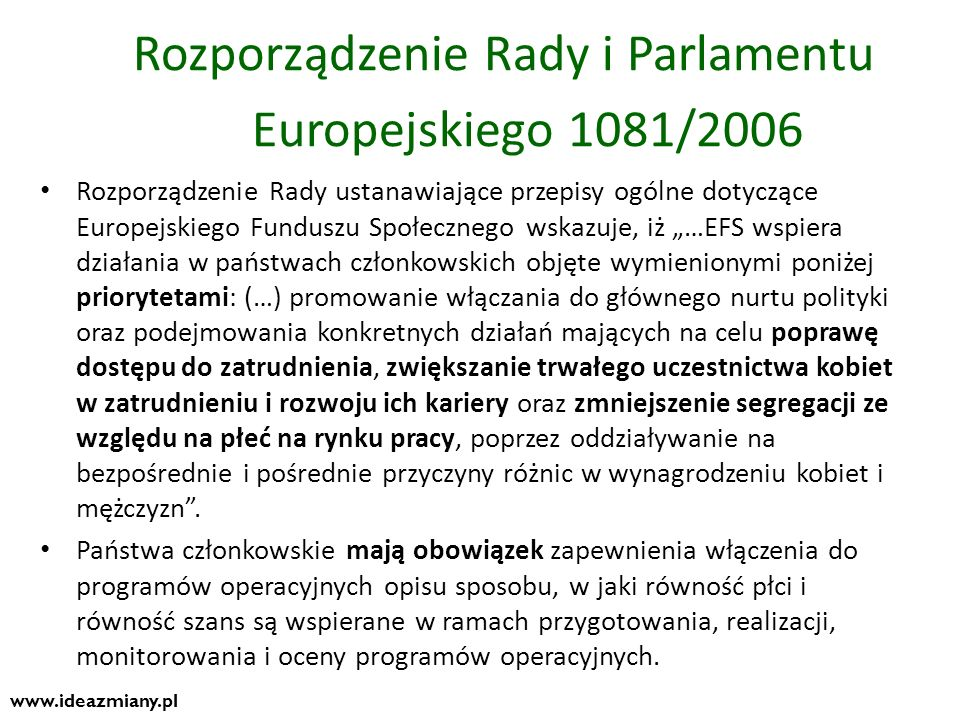 Rozporządzenie Rady i Parlamentu Europejskiego 1081/2006