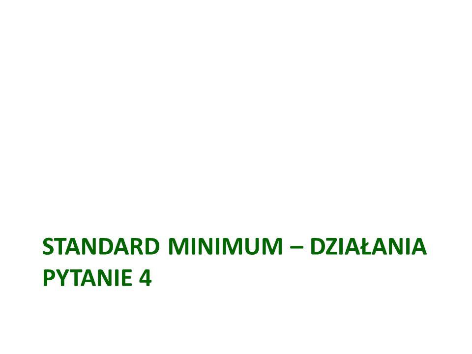 Standard minimum – działania Pytanie 4