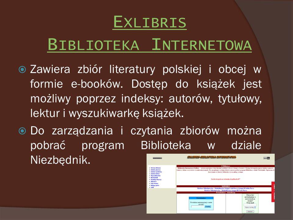 Exlibris Biblioteka Internetowa