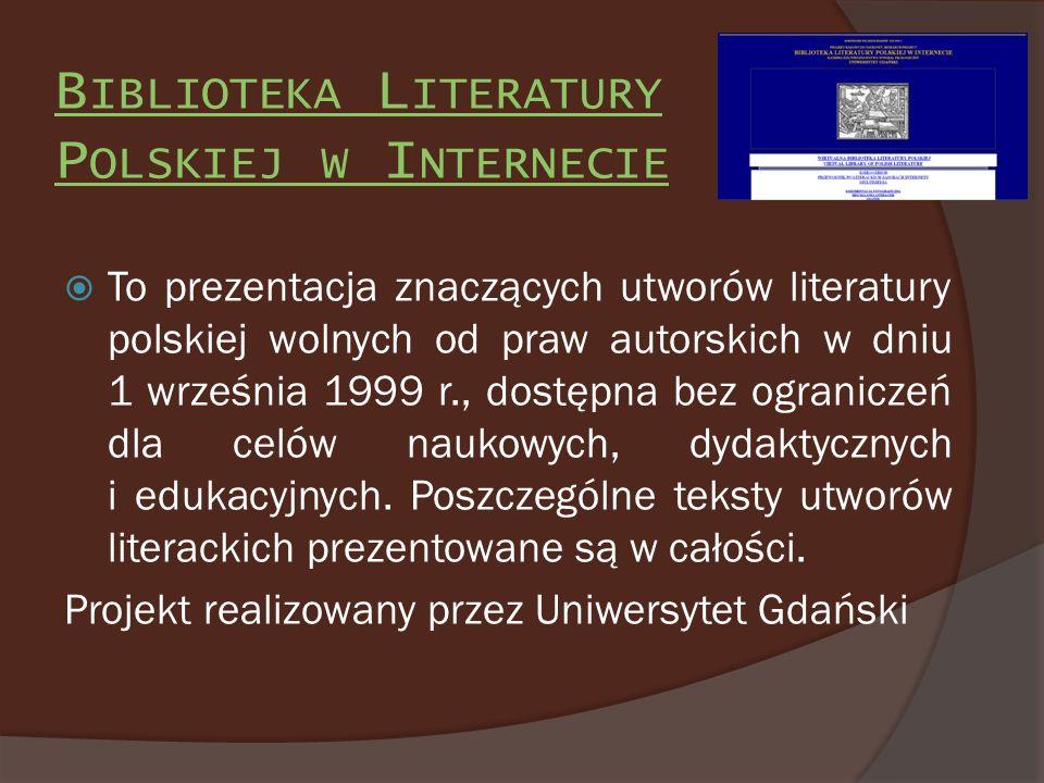 Biblioteka Literatury Polskiej w Internecie
