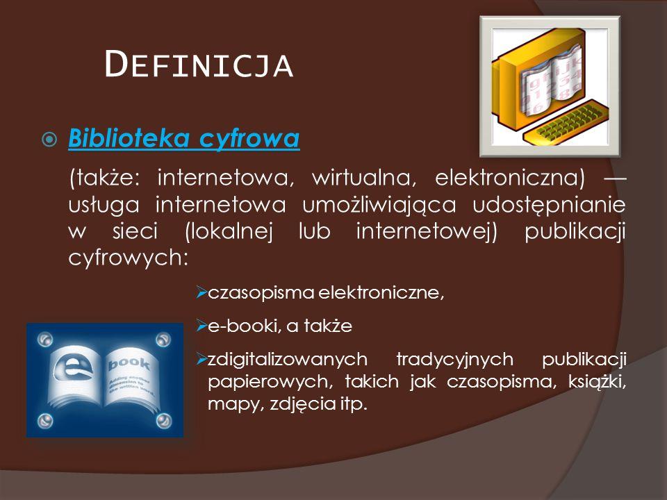 Definicja Biblioteka cyfrowa