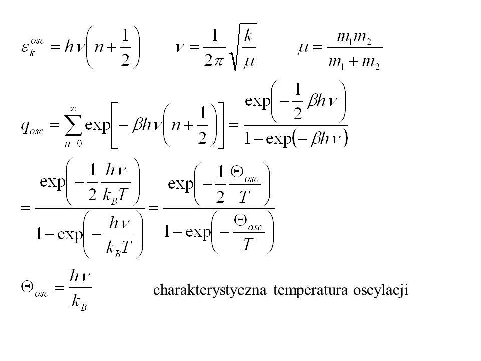 charakterystyczna temperatura oscylacji