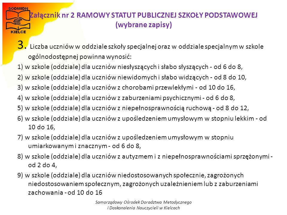Załącznik nr 2 RAMOWY STATUT PUBLICZNEJ SZKOŁY PODSTAWOWEJ (wybrane zapisy)