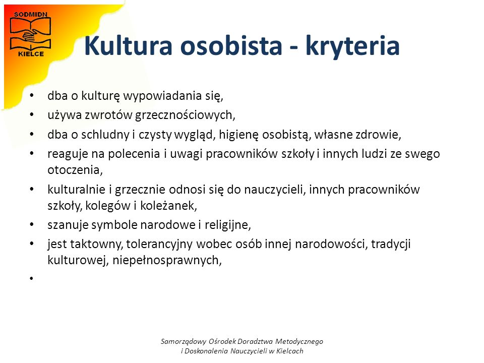 Kultura osobista - kryteria