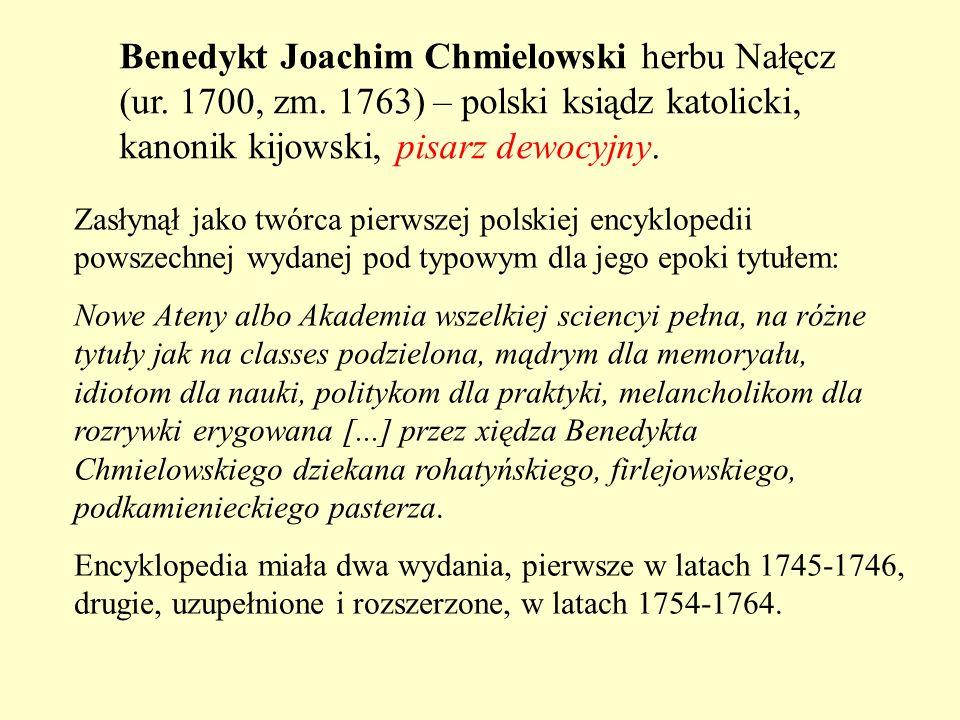 Benedykt Joachim Chmielowski herbu Nałęcz (ur. 1700, zm