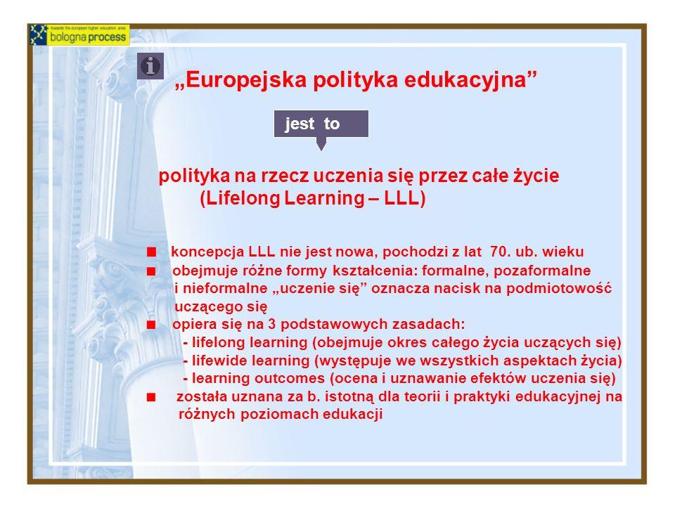 """Europejska polityka edukacyjna"