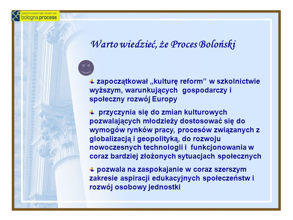 Warto wiedzieć, że Proces Boloński