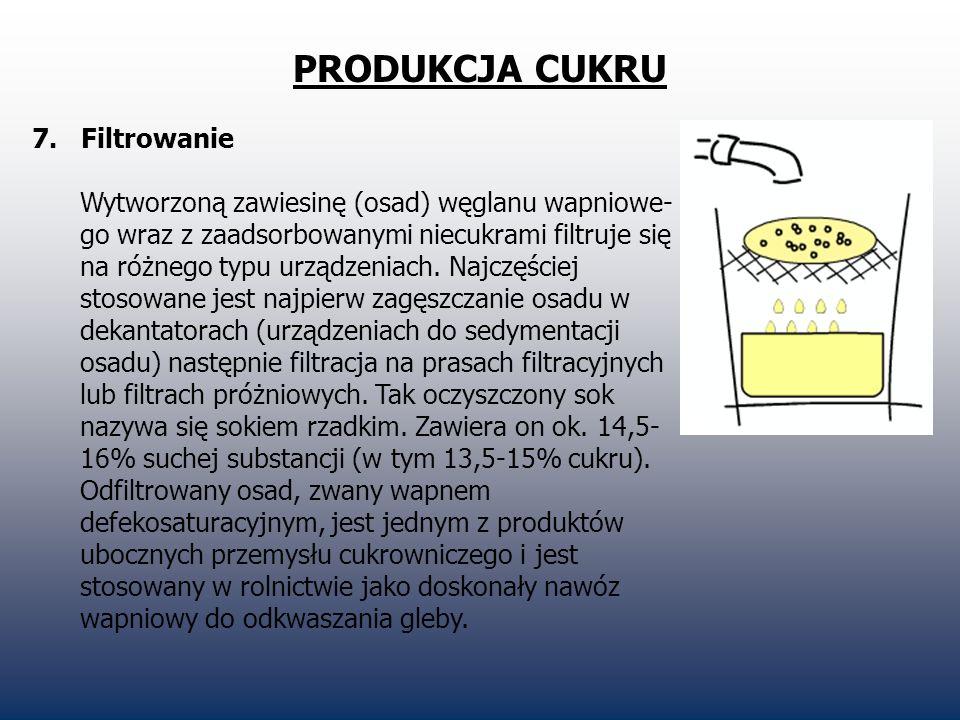 PRODUKCJA CUKRU 7. Filtrowanie