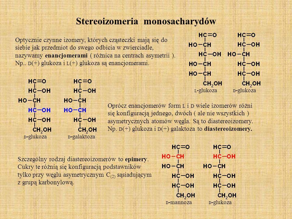 Stereoizomeria monosacharydów