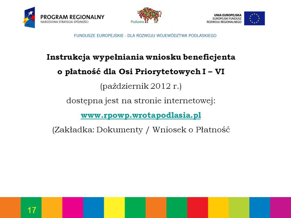 dostępna jest na stronie internetowej: www.rpowp.wrotapodlasia.pl