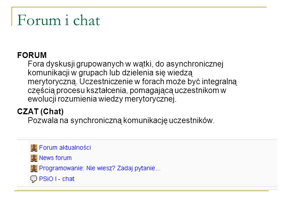 Forum i chat FORUM.