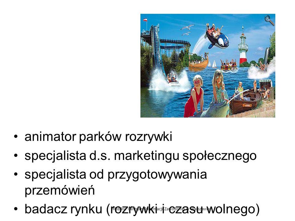 animator parków rozrywki specjalista d.s. marketingu społecznego