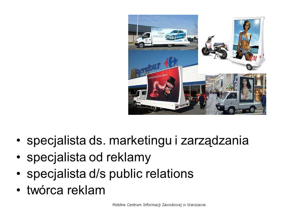 specjalista ds. marketingu i zarządzania specjalista od reklamy