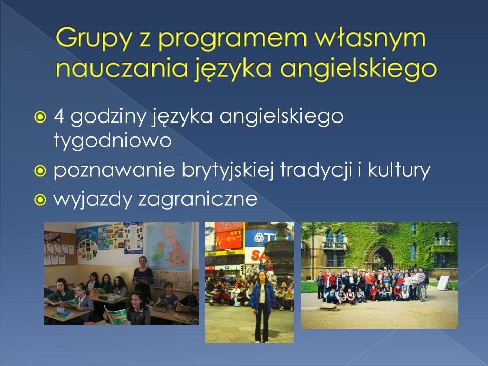 Grupy z programem własnym nauczania języka angielskiego