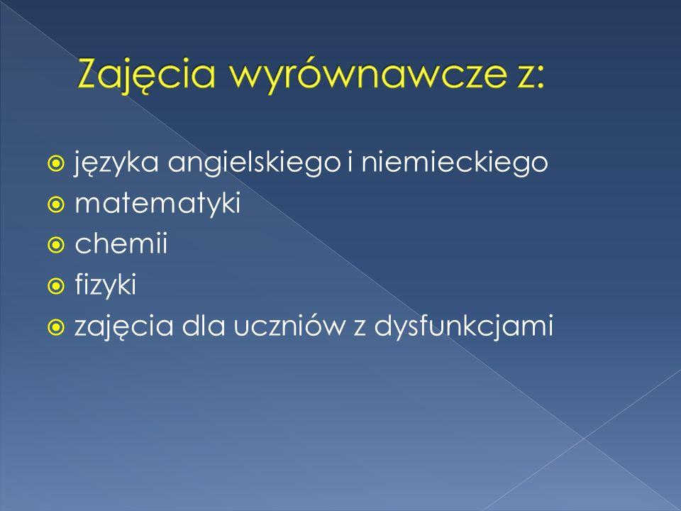 Zajęcia wyrównawcze z: