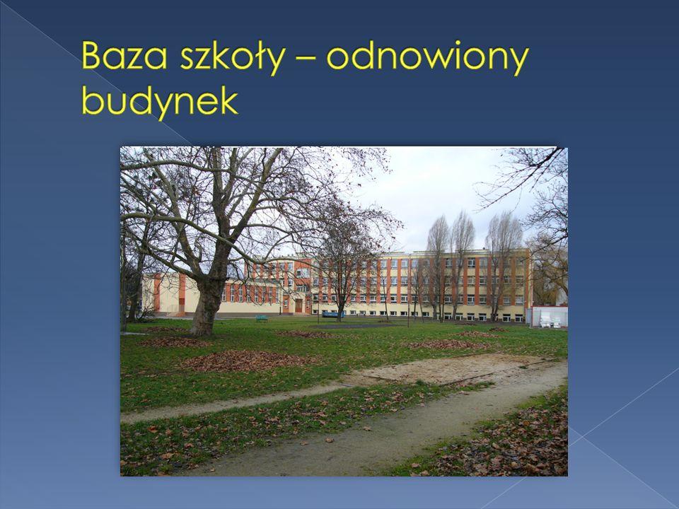 Baza szkoły – odnowiony budynek