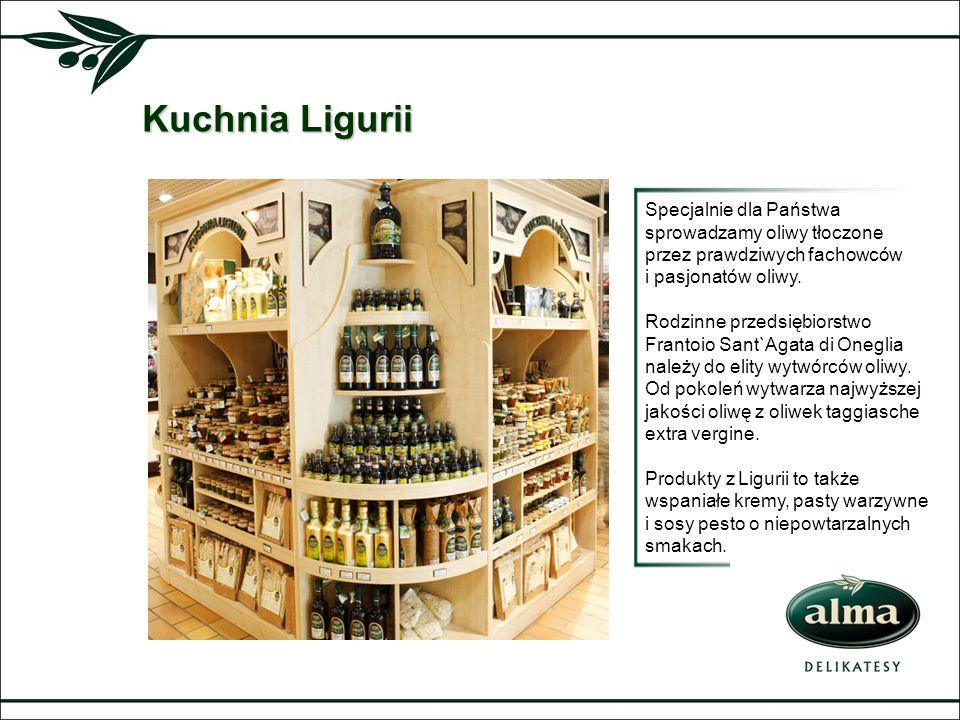 Kuchnia LiguriiSpecjalnie dla Państwa sprowadzamy oliwy tłoczone przez prawdziwych fachowców. i pasjonatów oliwy.
