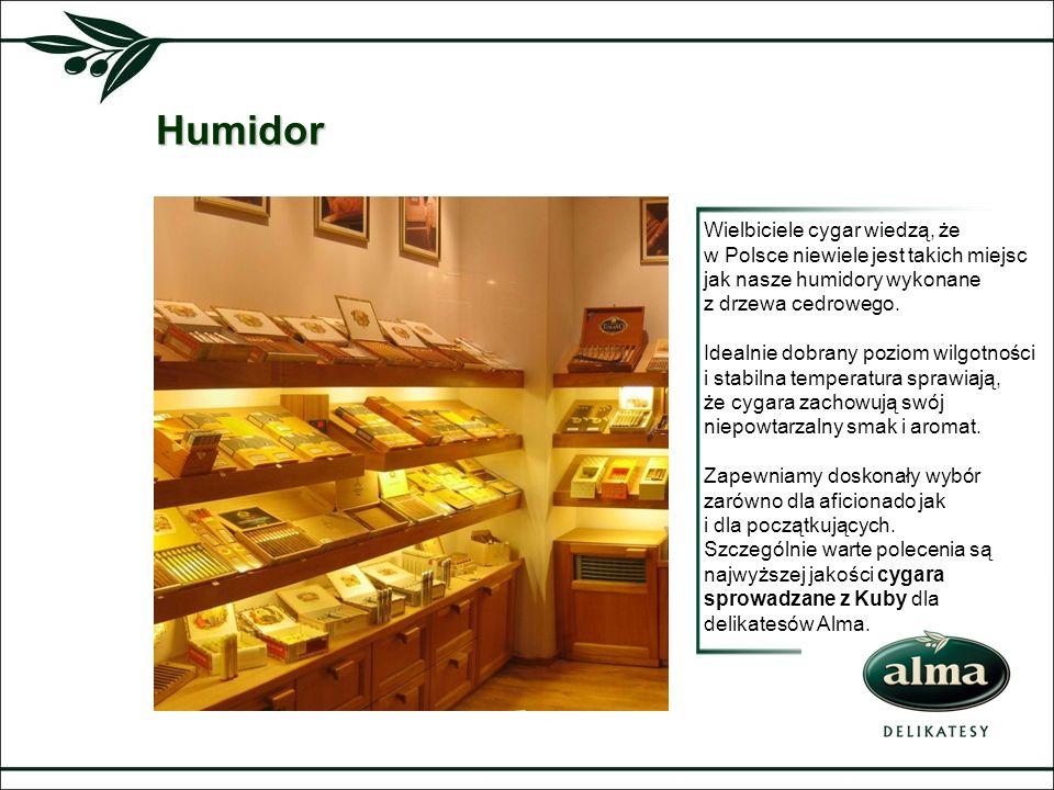 Humidor Wielbiciele cygar wiedzą, że w Polsce niewiele jest takich miejsc jak nasze humidory wykonane z drzewa cedrowego.
