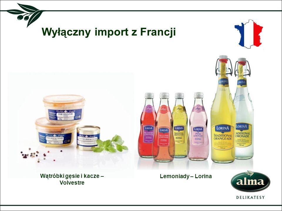 Wyłączny import z Francji