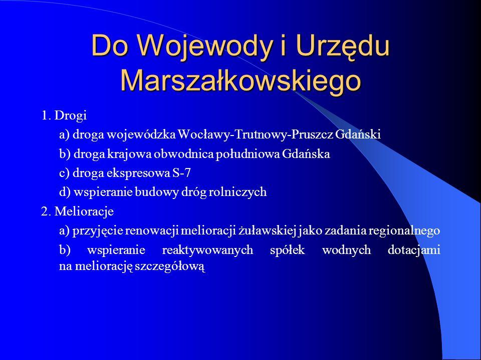 Do Wojewody i Urzędu Marszałkowskiego