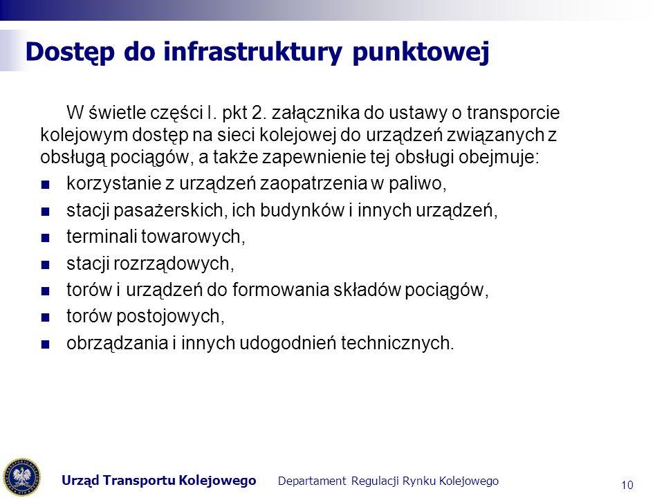 Dostęp do infrastruktury punktowej