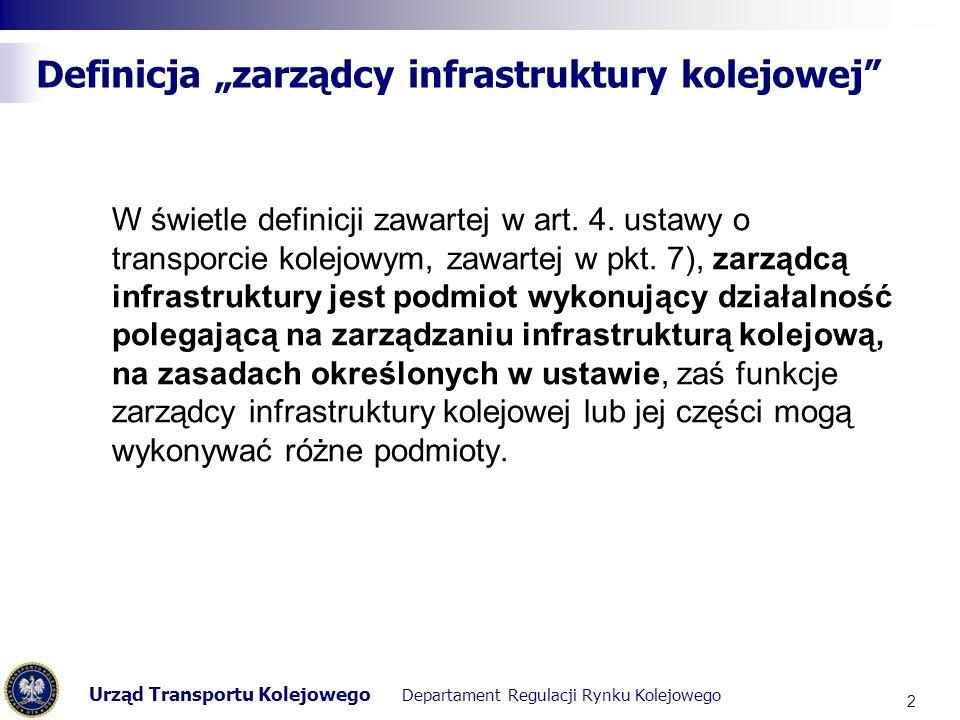 """Definicja """"zarządcy infrastruktury kolejowej"""