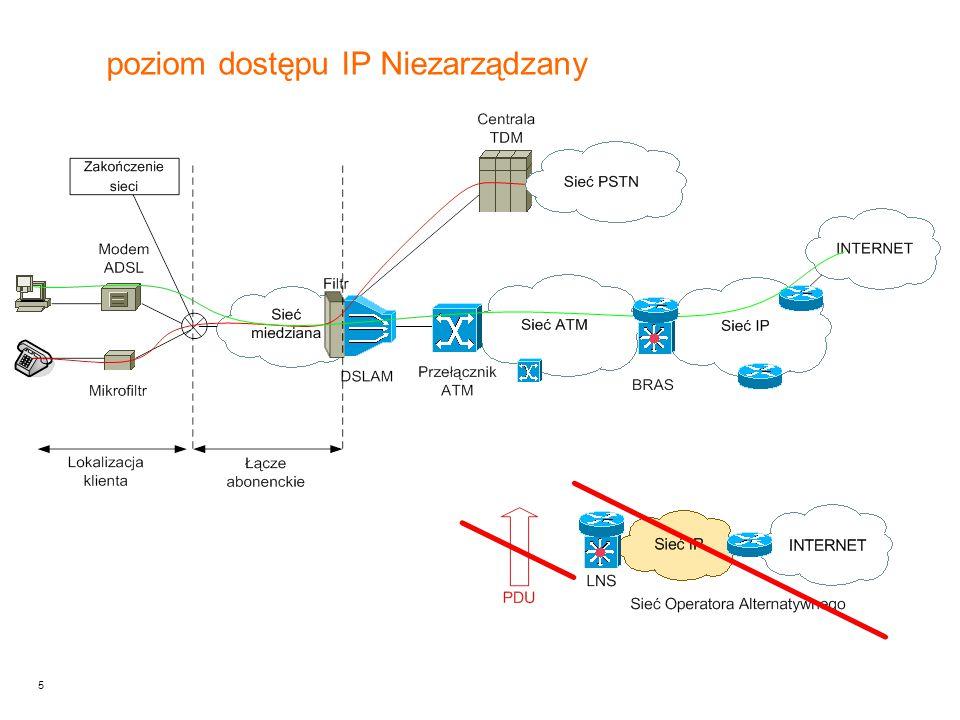 poziom dostępu IP Niezarządzany
