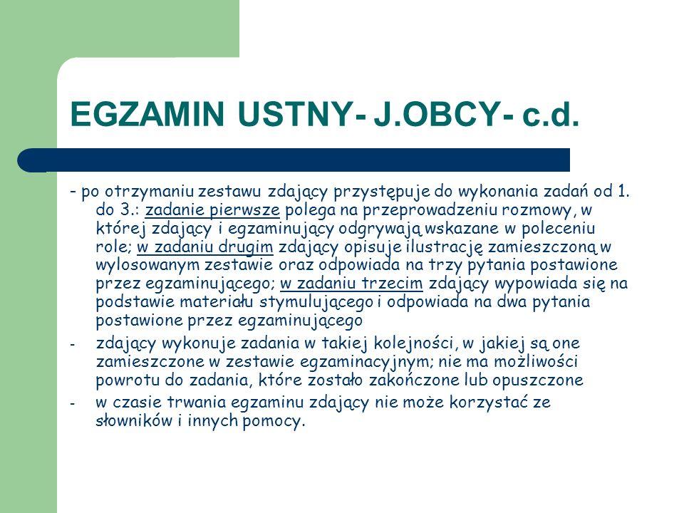 EGZAMIN USTNY- J.OBCY- c.d.