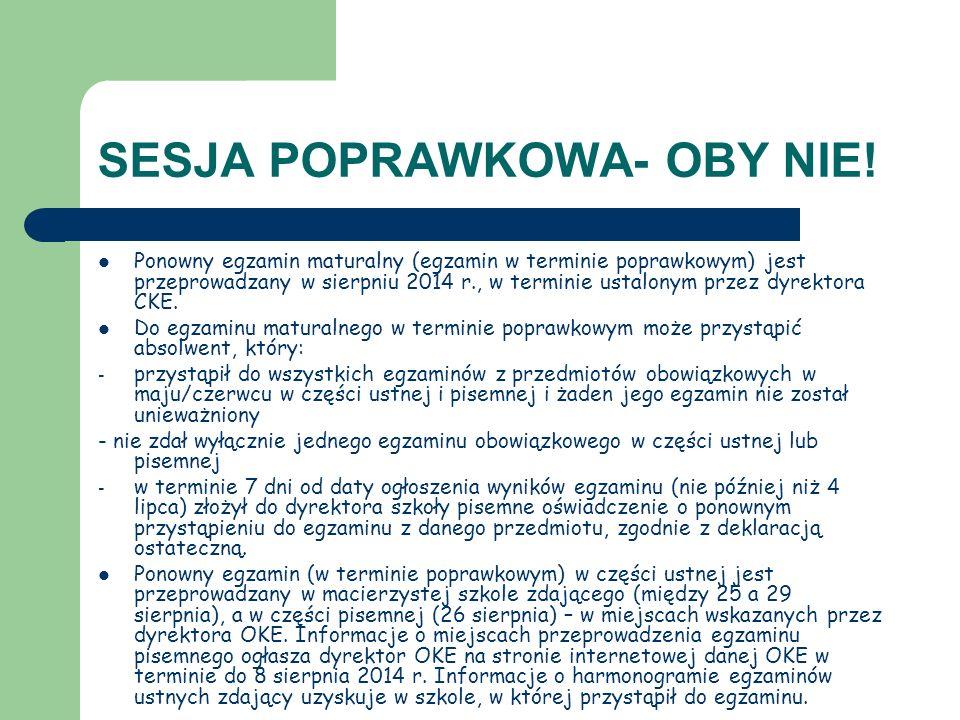 SESJA POPRAWKOWA- OBY NIE!